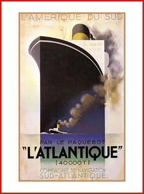 L'ATLANTIQUE de TRANSPORT | Poster-Leinwand